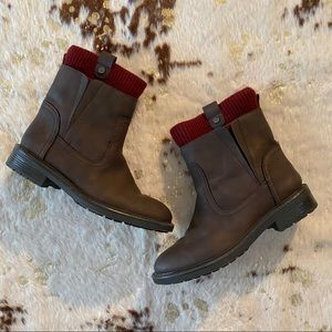 Tommy Hilfiger Rugby 2 Brown Boots Sz 8.5